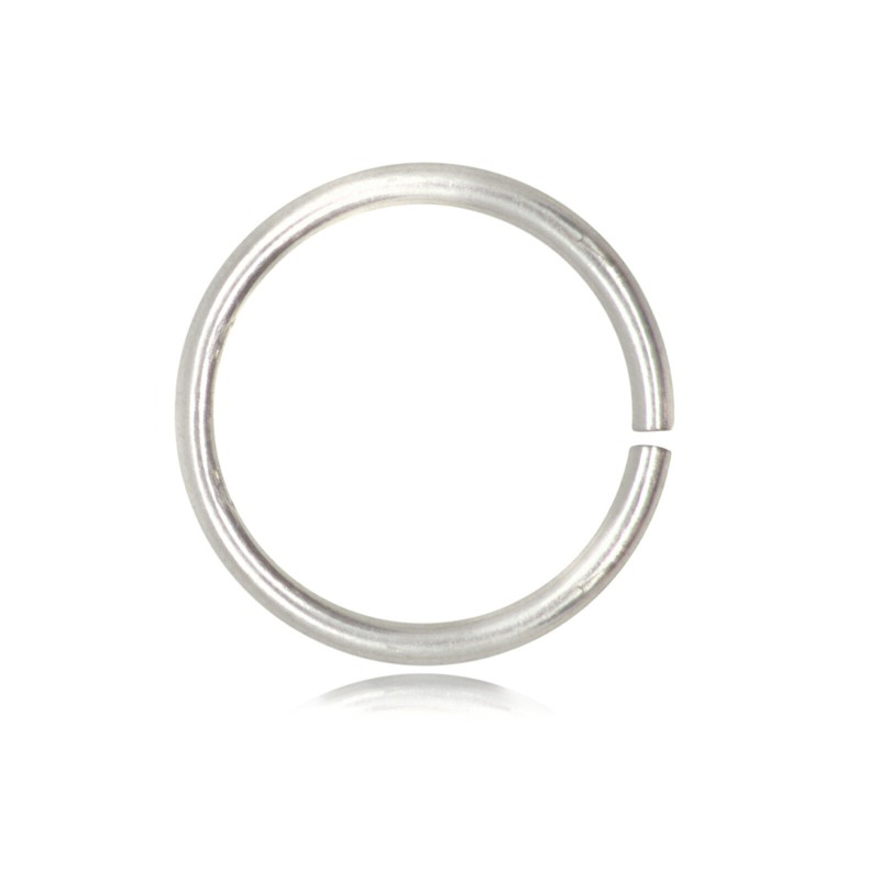 Strong Open Jump Rings in Sterling Silver - 12mm Diameter - 1.5mm Thickness
