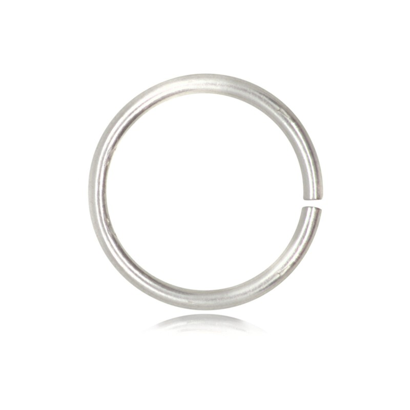Strong Open Jump Rings in Sterling Silver - 16mm Diameter - 1.5mm Thickness