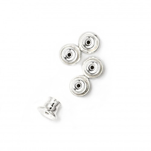 Stud Stoppers / Push-on Earring Bullets in Sterling Silver