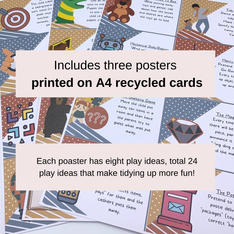 Tidying Up Games in a Box! 24 Play Ideas, Colour-in Activities, Praise Medals 2