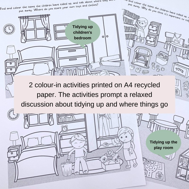Tidying Up Games in a Box! 24 Play Ideas, Colour-in Activities, Praise Medals 4