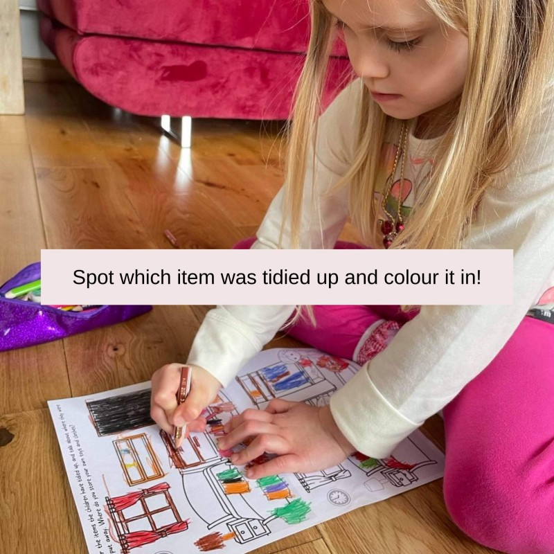 Tidying Up Games in a Box! 24 Play Ideas, Colour-in Activities, Praise Medals 5