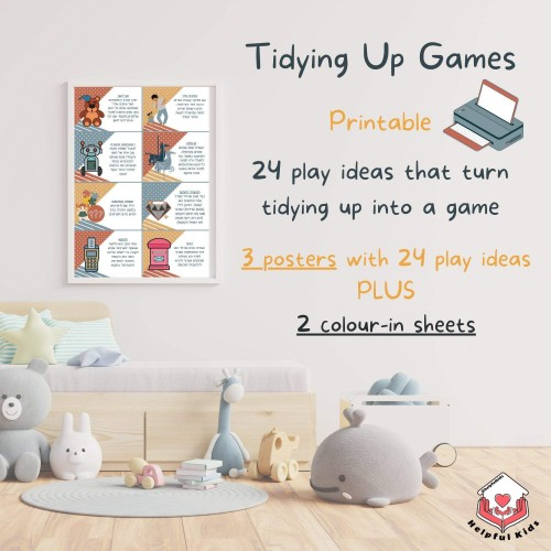 Tidying Up Games (Printable ) for Kids, Chores/ Housework Play Ideas