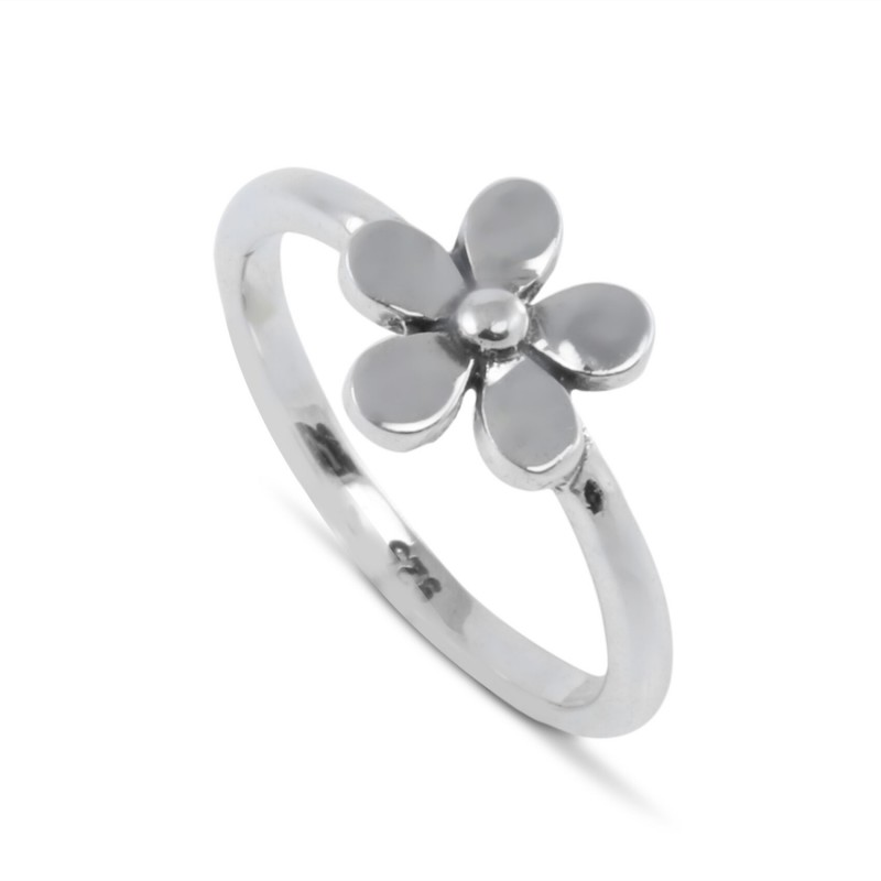 Tiny Flower Ring in sterling silver