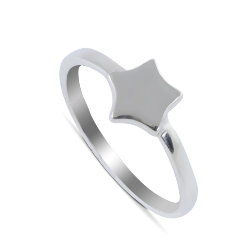 Tiny Twinkle Star Ring in Sterling Silver
