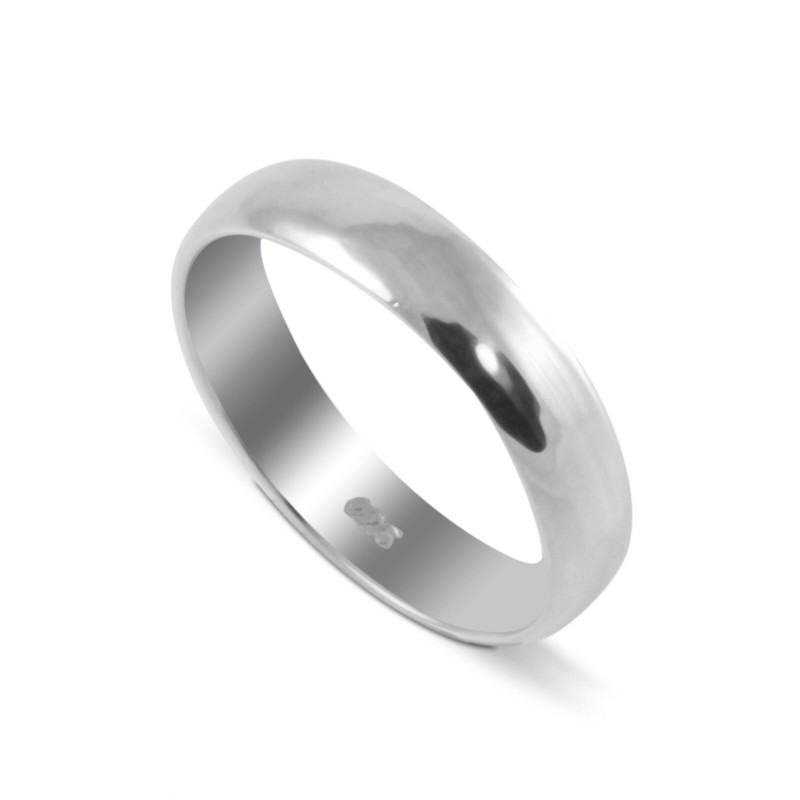 True Love Wedding Band for Him/Her in Sterling Silver