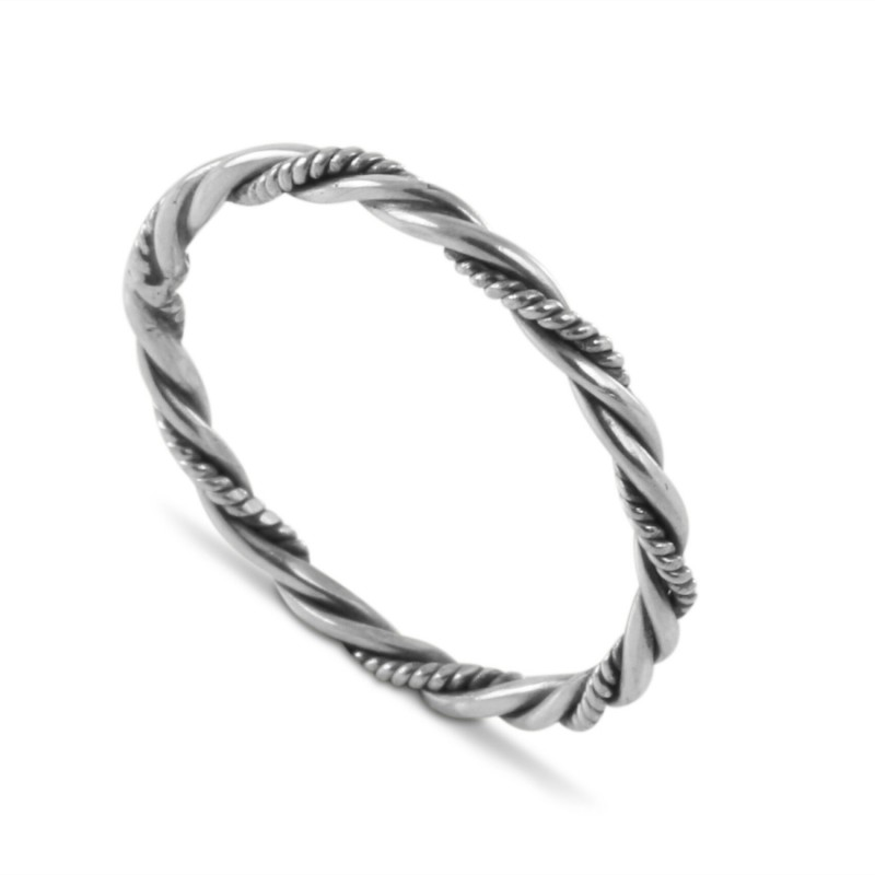 Twisted Rope Band in Sterling Silver