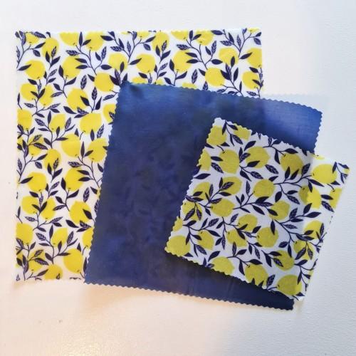 Blue & Lemon Design - Beeswax Wraps