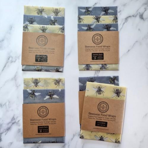 Bumble Bee Range- Beeswax Wraps