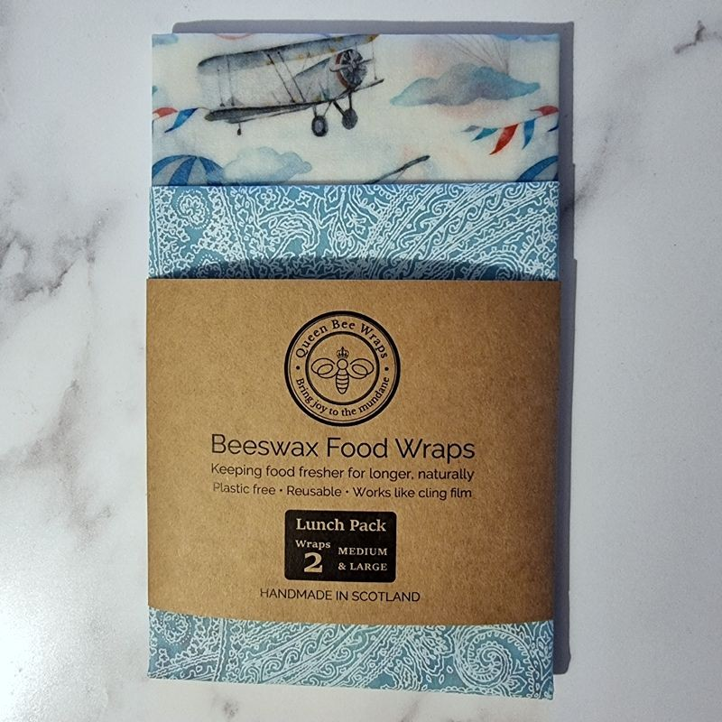 Vintage Skies - Beeswax Wrap Lunch Pack