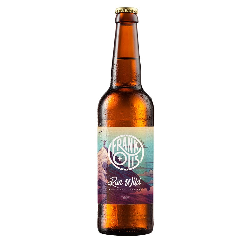 Beer West Coast Pale Ale, Run Wild - Frank+Otis