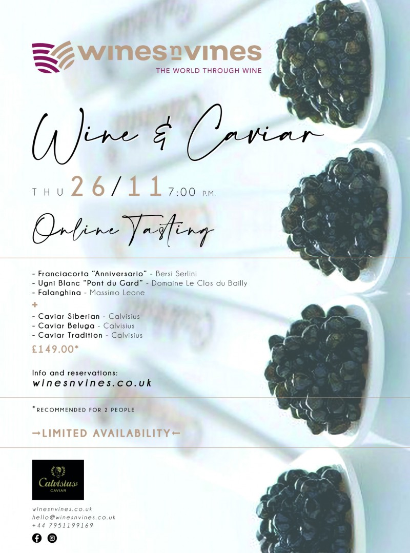 Wine & Caviar - Online Tasting
