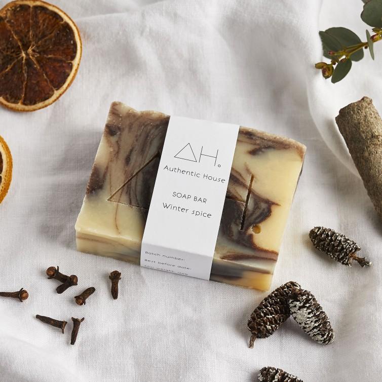 Winter spice soap