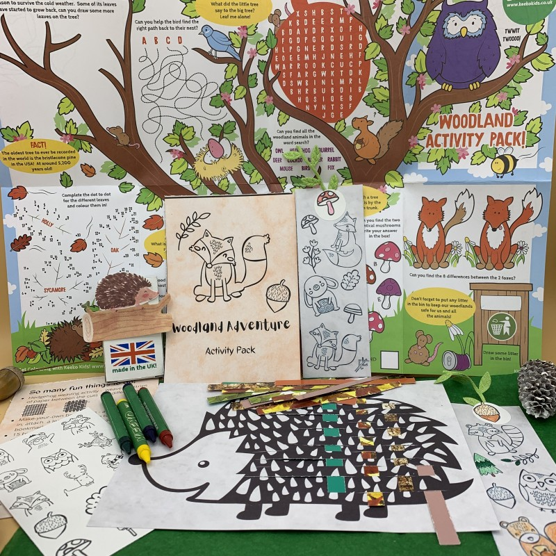 Woodland Adventure Letterbox Activity Pack for Kids, Eco Friendly 1
