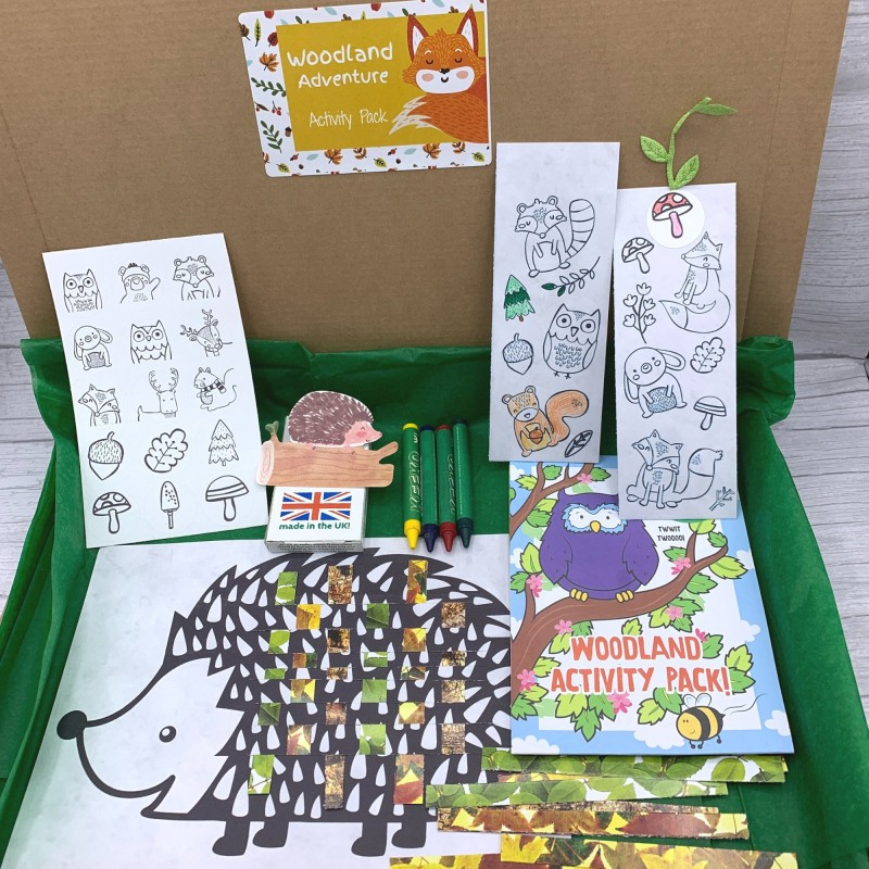 Woodland Adventure Letterbox Activity Pack for Kids, Eco Friendly 2