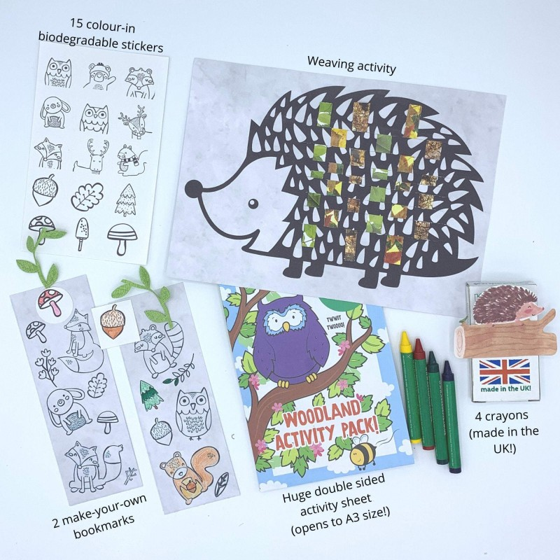 Woodland Adventure Letterbox Activity Pack for Kids, Eco Friendly 3
