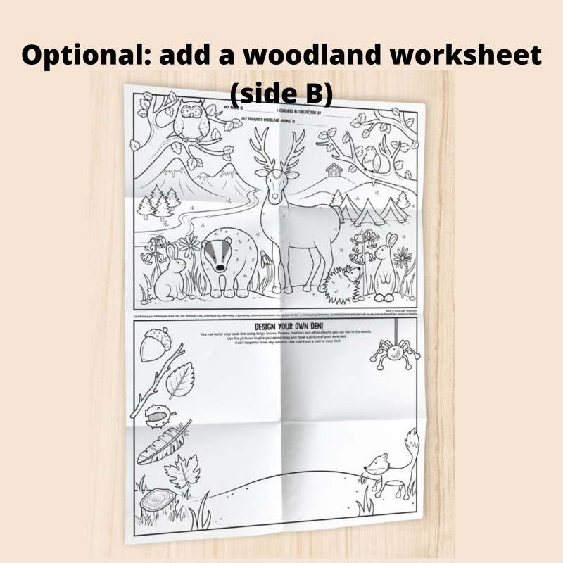 Woodland Colour-in Wooden Story Tokens, Eco Friendly Stocking Filler 3