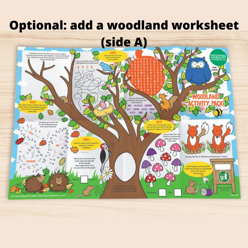 Woodland Colour-in Wooden Story Tokens, Eco Friendly Stocking Filler 4