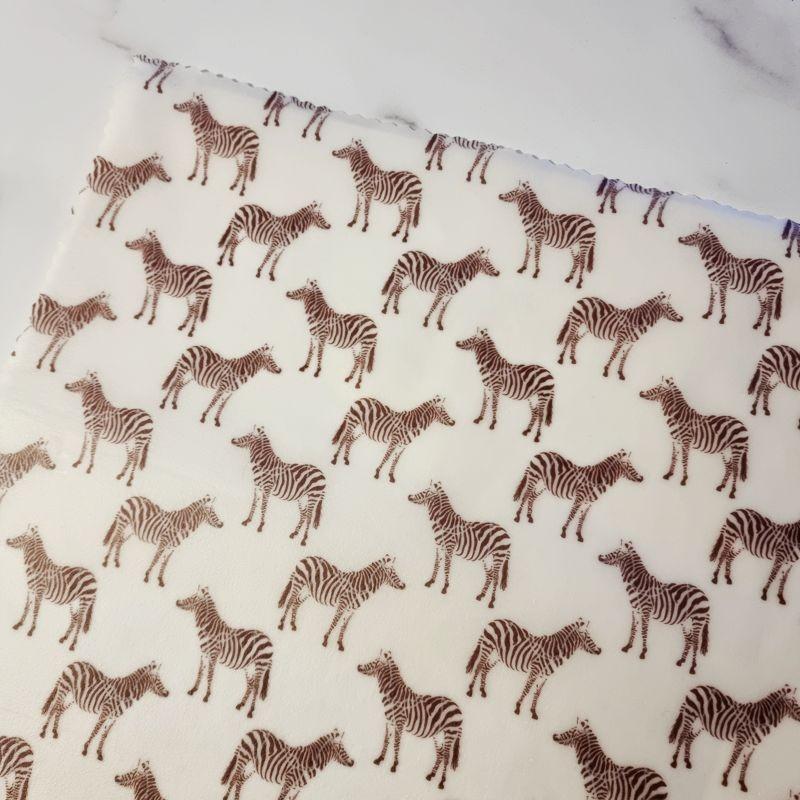 Zebra Design- Beeswax Wrap Lunch Pack