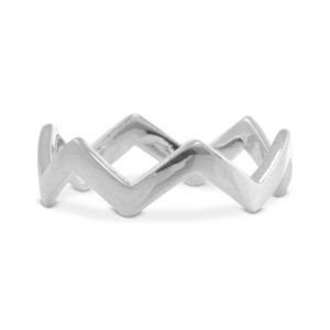 Zigzag Band Ring in Sterling Silver